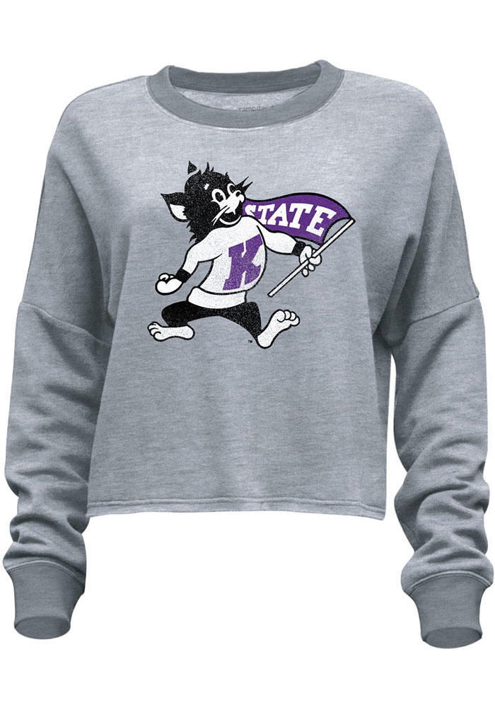 K-State Wildcats Womens Flash Dance Grey Crew Sweatshirt