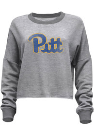Pitt Panthers Womens Flashdance Crew Sweatshirt - Grey