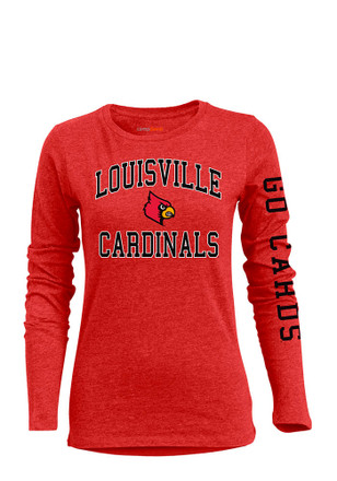 Louisville Cardinals Womens BFF Red T-Shirt