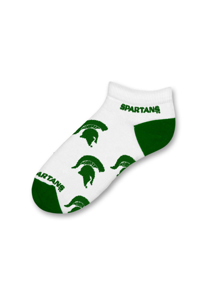 Michigan State Spartans Logo All-Over Womens No Show Socks - Image 1