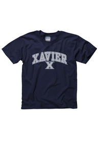 Xavier Musketeers Youth Navy Blue Arch Mascot T-Shirt