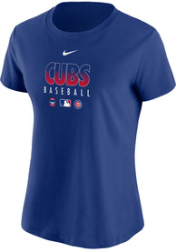 Chicago Cubs Womens Nike Authentic Collection Dri-FIT T-Shirt - Blue