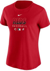 Cincinnati Reds Womens Nike Authentic Collection Dri-FIT T-Shirt - Red