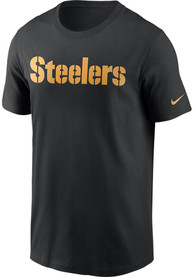 Pittsburgh Steelers Nike Wordmark Essential T Shirt - Black