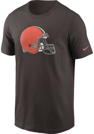 Cleveland Browns Nike Logo Essential T Shirt - Brown