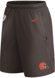Cleveland Browns Nike Coach Knit Shorts - Brown