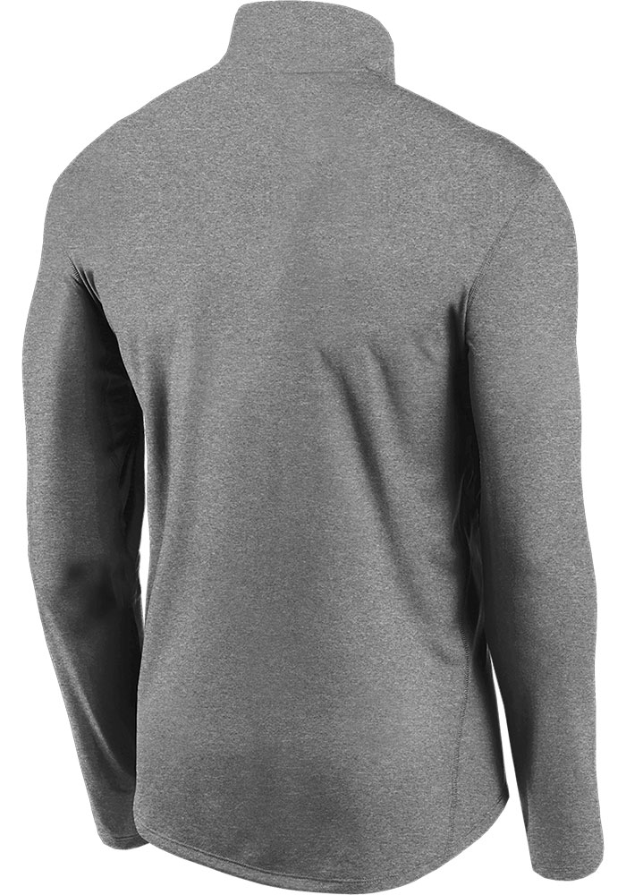 Nike Chicago Bears Mens Grey Element Long Sleeve 1/4 Zip Pullover - Image 2