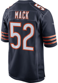 Khalil Mack Chicago Bears Nike Home Game Football Jersey - Navy Blue