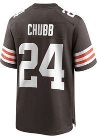 Nick Chubb Cleveland Browns Nike Home Game Football Jersey - Brown