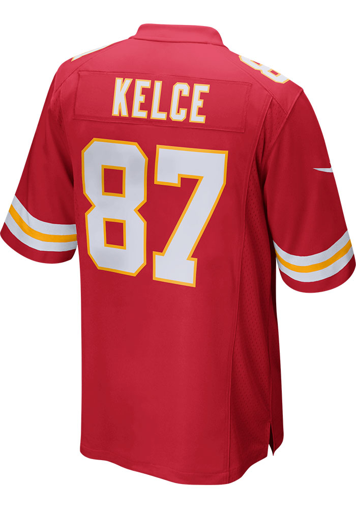 Travis Kelce Nike Kansas City Chiefs Red Home Game Football Jersey - Image 1