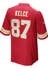 Travis Kelce Kansas City Chiefs Nike Home Game Football Jersey - Red