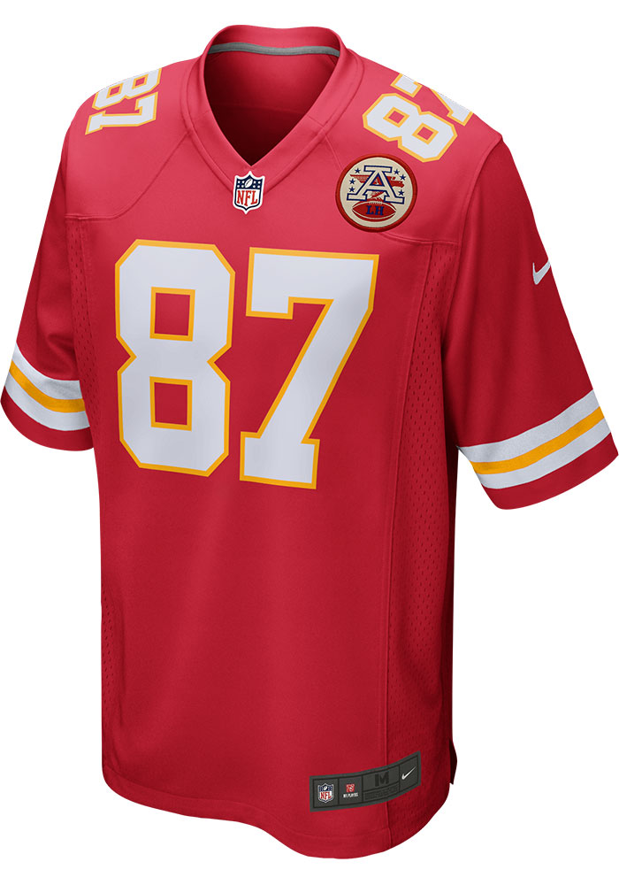 Travis Kelce Nike Kansas City Chiefs Red Home Game Football Jersey - Image 2