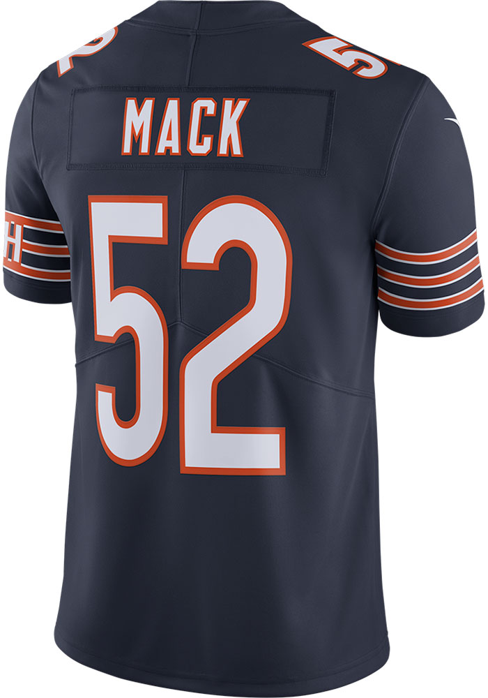 Khalil Mack Nike Chicago Bears Mens Navy Blue Home Limited Football Jersey - Image 1