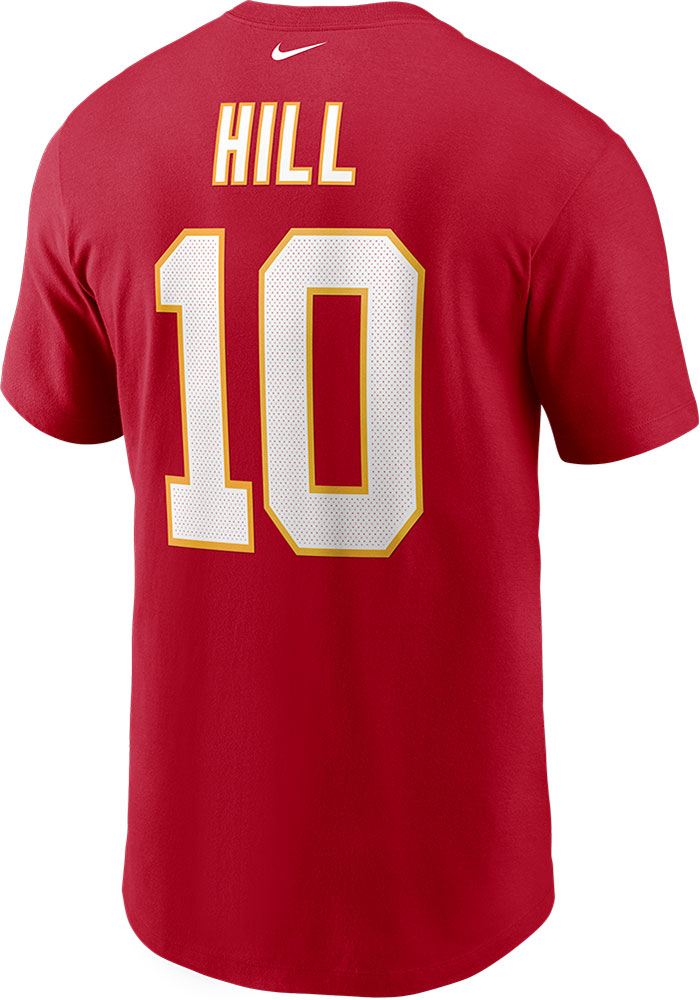 Tyreek Hill Kansas City Chiefs Red Name And Number Short Sleeve Player T Shirt - Image 1