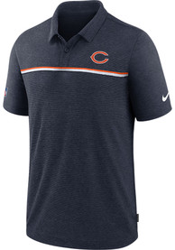 Chicago Bears Nike Sideline Polo Shirt - Navy Blue