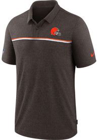 Cleveland Browns Nike Sideline Polo Shirt - Brown