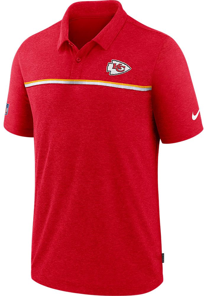 Nike Kansas City Chiefs Mens Red Sideline Short Sleeve Polo - Image 1