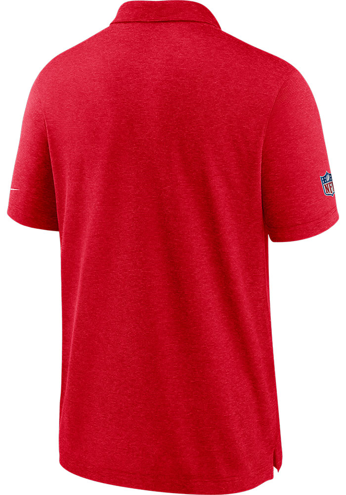 Nike Kansas City Chiefs Mens Red Sideline Short Sleeve Polo - Image 2
