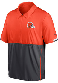 Cleveland Browns Nike Coach Pullover Jackets - Orange