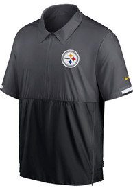 Pittsburgh Steelers Nike Coach Pullover Jackets - Grey