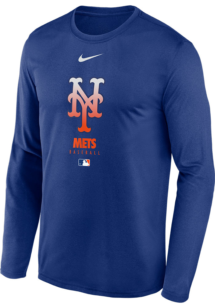 New York Mets Boys Youth 1//4 Sleeve Pullover T-Shirt