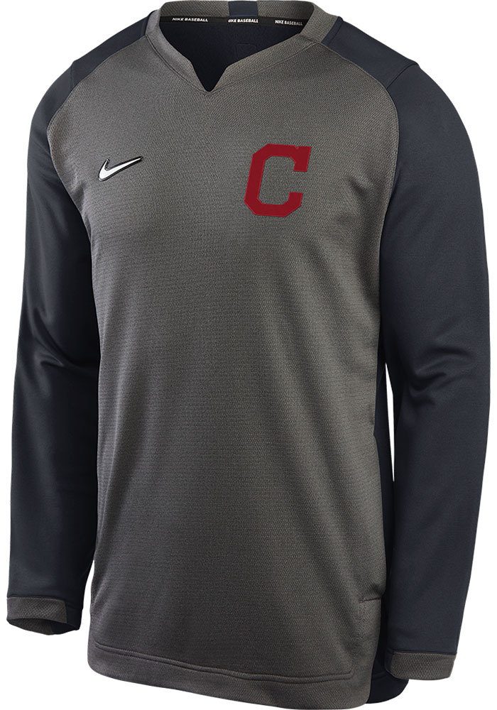 Cleveland Indians Grey Authentic Thermal Sweatshirt