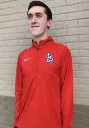 St Louis Cardinals Nike Element 1/4 Zip Pullover - Red