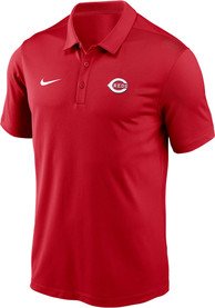 Cincinnati Reds Nike Cap Logo Polo Shirt - Red