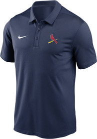 St Louis Cardinals Nike Primary Logo Polo Shirt - Navy Blue