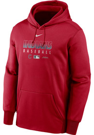 Cleveland Indians Nike Authentic Therma Hood - Red