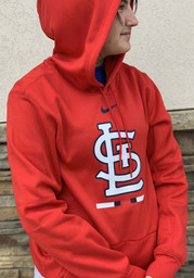 St Louis Cardinals Nike Legacy Therma Hood - Red