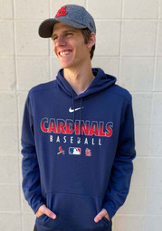 St Louis Cardinals Nike Authentic Therma Hood - Navy Blue