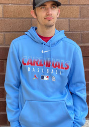 St Louis Cardinals Nike Authentic Therma Hood - Light Blue