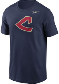 Cleveland Indians Nike Cooperstown Fashion T Shirt - Navy Blue