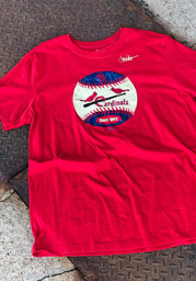 St Louis Cardinals Nike Cooperstown Fashion T Shirt - Red