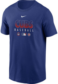 Chicago Cubs Nike Authentic T Shirt - Blue