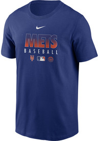 New York Mets Nike Authentic T Shirt - Blue