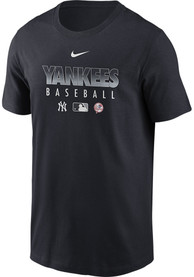 New York Yankees Nike Authentic T Shirt - Navy Blue