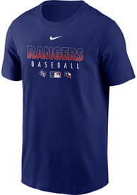 Texas Rangers Nike Authentic T Shirt - Blue
