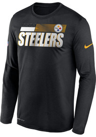 Pittsburgh Steelers Nike Sideline Logo Legend T-Shirt - Black