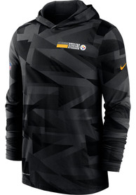 Pittsburgh Steelers Nike Sideline Team Name Dri Fit Hood - Black