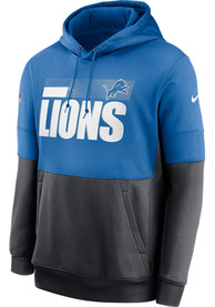 Detroit Lions Nike Sideline Therma Team Name Hood - Blue