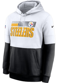 Pittsburgh Steelers Nike Sideline Therma Team Name Hood - White