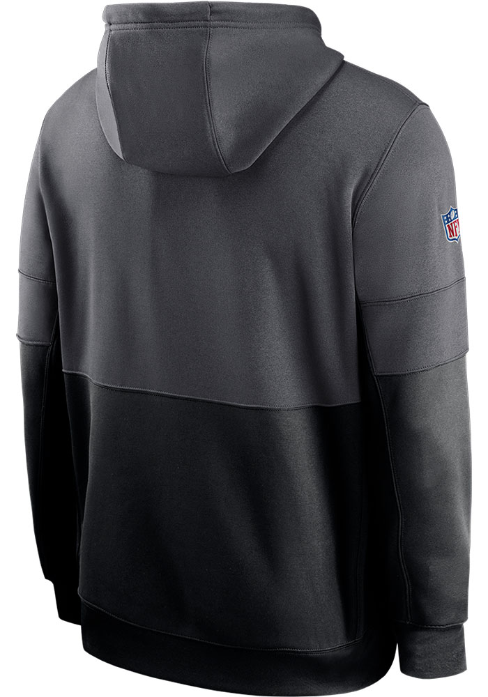 Nike Kansas City Chiefs Mens Grey Sideline Therma Team Name Hood - Image 2