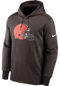 Cleveland Browns Nike Prime Logo Therma Hood - Brown