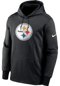 Pittsburgh Steelers Nike Prime Logo Therma Hood - Black