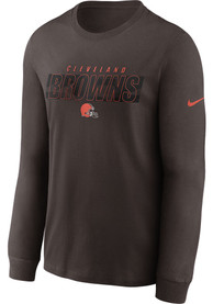 Cleveland Browns Nike Playbook T Shirt - Brown