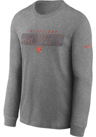 Cleveland Browns Nike Playbook T Shirt - Grey