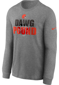 Cleveland Browns Nike Hyper Local T Shirt - Grey