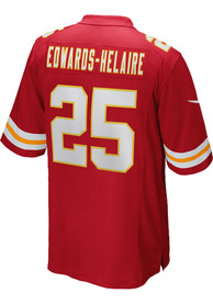 Clyde Edwards-Helaire Kansas City Chiefs Nike Home Game Football Jersey - Red